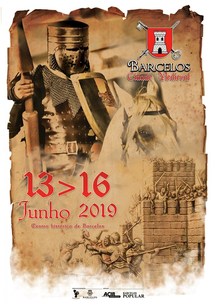 Cartaz Barcelos Cidade Medieval 2019