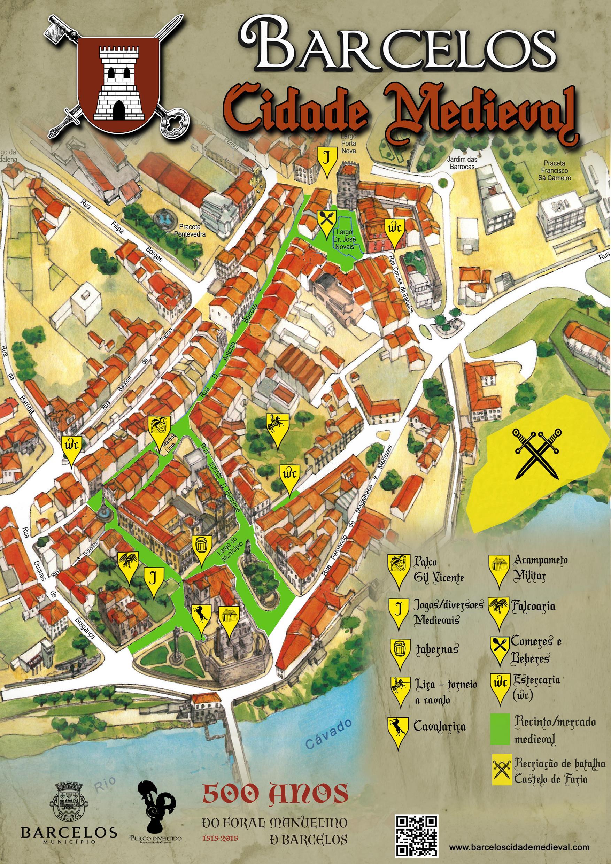 mapa de barcelos Mapa Barcelos Cidade Medieval 2015   Barcelos Cidade Medieval mapa de barcelos